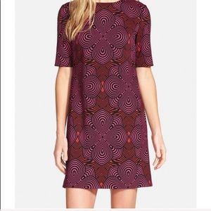 Taylor | Shift Dress 3/4 Sleeve Retro Print